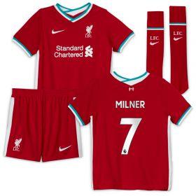 Liverpool Home Stadium Kit - 2020-21 Little Kids with Milner 7 printing
