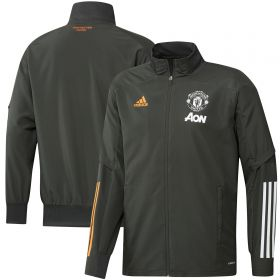 Manchester United Training Presentation Jacket - Green