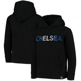 Chelsea Embroidered Hoodie - Black - Girls