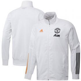 Manchester United Training Presentation Jacket - White