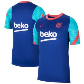 Barcelona Strike Training T-Shirt - Royal Blue