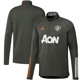 Manchester United Training Warm Up Top - Green