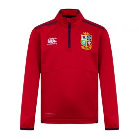 British & Irish Lions Thermoreg Quarter Zip Fleece - Red - Junior
