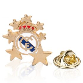 Real Madrid Crest Star Pin Badge