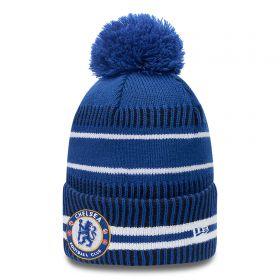 Chelsea New Era Jake Stripe Bobble Hat - Blue - Mens