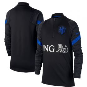 Netherlands Dri-Fit Strike Drill Top - Black - Kids