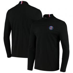 Paris-Saint Germain ESSENTIEL Long Sleeve Crest T-Shirt - Black - Mens