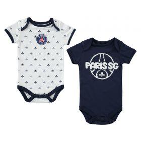 Paris Saint-Germain 2 Pack Bodysuit - Multi - Baby Boy