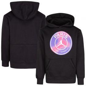 Paris Saint-Germain x Jordan Fleece Pullover Hoodie - Black - Kids