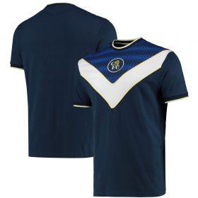 Chelsea Retro Panel T - Shirt - Navy - Mens