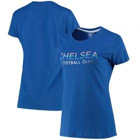 Chelsea Wordmark T-Shirt - Blue - Womens