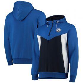 Chelsea Zip Through Hoody - Blue - Mens