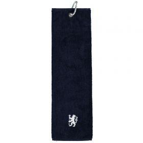 Chelsea Tri-Fold Velour Towel - Navy
