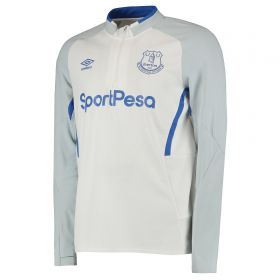 Everton Training Half Zip Sweatshirt - White