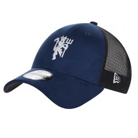 Manchester United New Era 9FORTY Trucker Cap - Navy - Adult