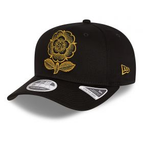 England Rugby New Era 9FIFTY Stretch Snap 150 Years Heritage Rose Cap - Black