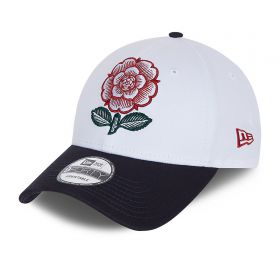 England Rugby New Era 9FORTY 150 Years Heritage Rose Cap - White