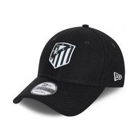 Atlético de Madrid New Era Diamond Era 9FORTY Tonal Cap - Black - Adults