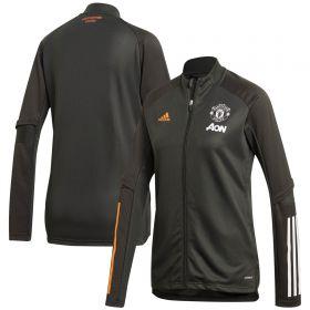 Manchester United Training Jacket - Green - Womens