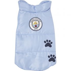 Manchester City Dog Coat - Medium (35cm)