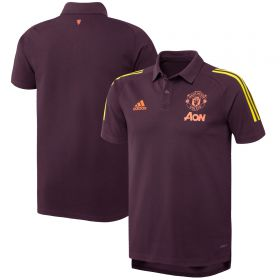 Manchester United European Training Cotton Polo - Red