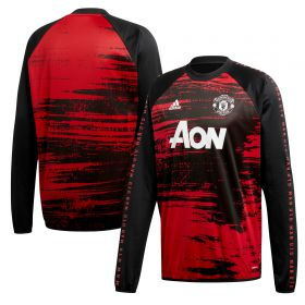 Manchester United Pre Match Warm Top - Red