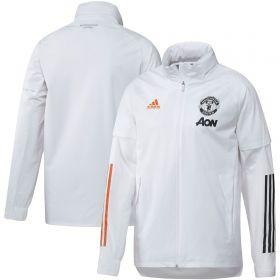 Manchester United Training All Weather Jacket - White