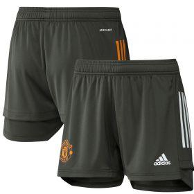 Manchester United Training Shorts - Green - Womens