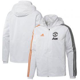 Manchester United Training Storm Jacket - White