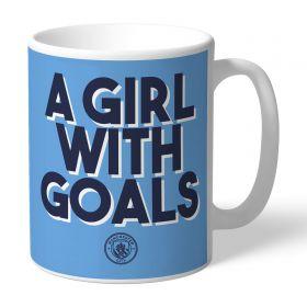 Manchester City A GIRL WITH GOALS Mug