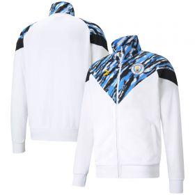 Manchester City Iconic MCS Graphic Jacket - White