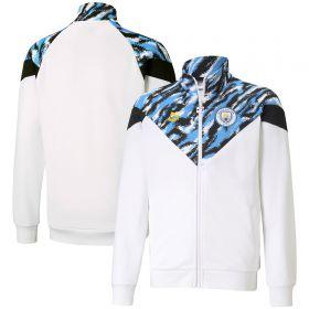 Manchester City Iconic MCS Graphic Jacket - White - Kids