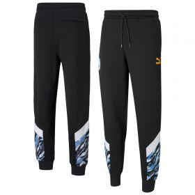 Manchester City Iconic MCS Graphic Pants - Black
