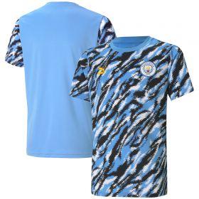 Manchester City Iconic MCS Graphic T-Shirt - Black - Kids