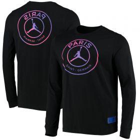 Paris Saint-Germain X Jordan Printed Long Sleeve Top - Black