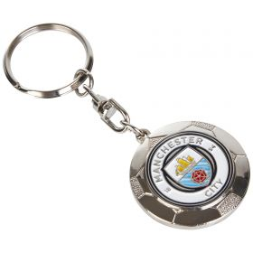 Manchester City Silver Ball Keyring