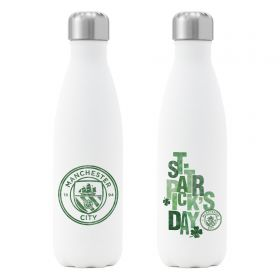 Manchester City St Patrick's Day Insulated Water Bottle