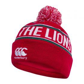British & Irish Lions Fleece Lined Bobble Hat - Red