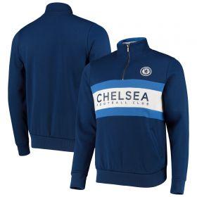 Chelsea 1/4 Zip Sweatshirt - Blue - Mens