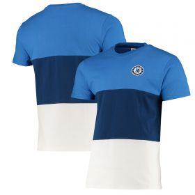 Chelsea Colour Block T-Shirt - Blue/White - Mens