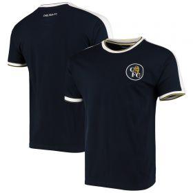 Chelsea Retro Ringer T-Shirt - Navy - Mens