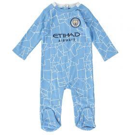 Manchester City Kit Sleepsuit - Sky - Baby