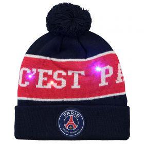 Paris Saint-Germain ICI C'EST PARIS Bobble Hat - Navy/Red - Adult