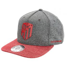 Atlético de Madrid Metalised Crest Cap - Charcoal Marl - Adults