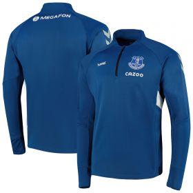 Everton Matchday Half Zip Sweat - True Blue