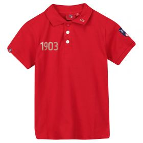 Atlético de Madrid Crest Polo Shirt - Red - Boys