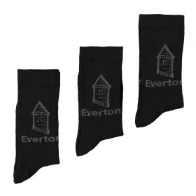 Everton 3 Pack Ankle Socks - Black - Junior