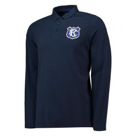 Everton Goodison 1920 Long Sleeve Polo - Navy - Mens