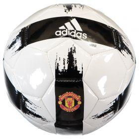 Manchester United Mini Football - White/Black