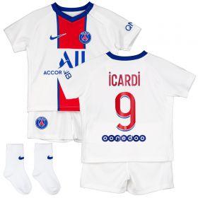 Paris Saint-Germain Away Stadium Kit 2020-21 - Infants with Icardi 18 printing